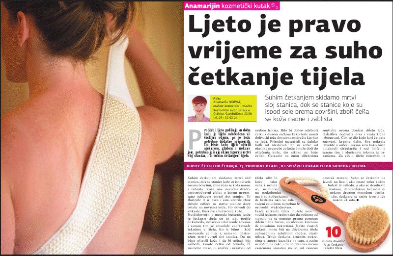 """Glas Slavonije: """"SUHO ČETKANJE TIJELA"""""""
