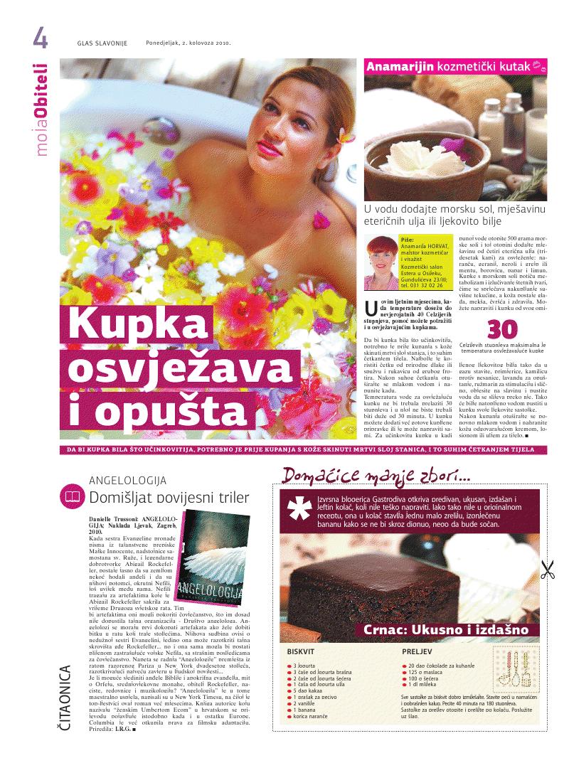 """Glas Slavonije 2.08.2010.g. """"OSVJEŽAVAJUĆA KUPKA"""""""