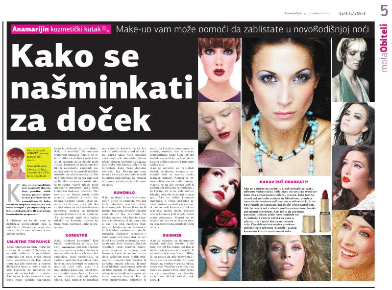 """Glas Slavonije 27.10.2010.g. """"NOVOGODIŠNJI MAKE UP"""""""