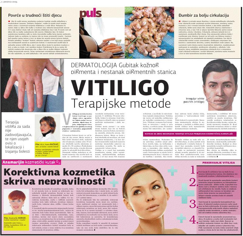 """Glas Slavonije 7.12.2009.g. """"CAMUFLAGE TERAPIJA"""""""
